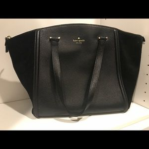 Kate Spade Black Leather and suede purse